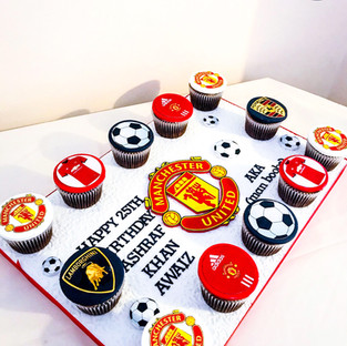 Manchester United Cupcakes.