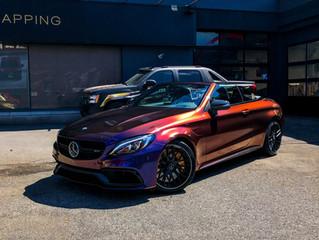 Mercedes C63s AMG - Car wrap Rolling Thunder colorflow