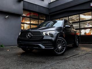 Mercedes GLE wordt gewrapped in SATIN SILKY BLACK