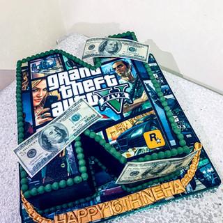 Grand Theft Auto Cake.