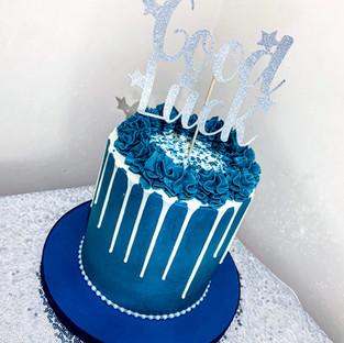 Boys drip cake.