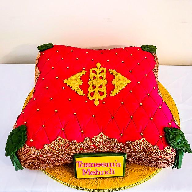 Mehndi Pillow Cake.