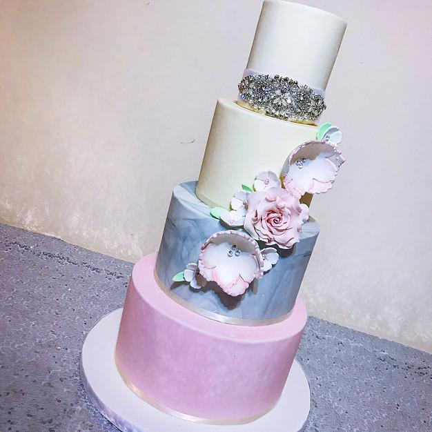Pastel Wedding Cake.