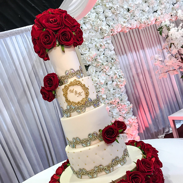 Diamond Wedding Cake.