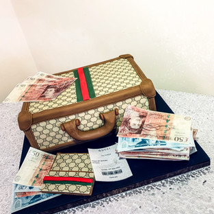 Gucci Suitcase Cake.