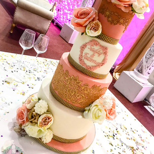Peach Lace Cake.