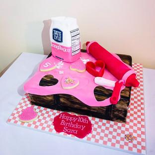 Baking Cake.