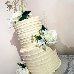 Buttercream Wedding Cake.