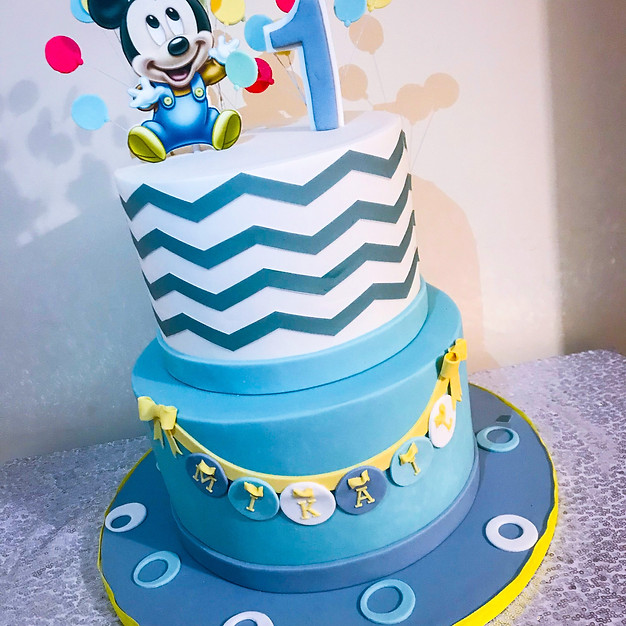 Baby Mickey Mouse Cake.