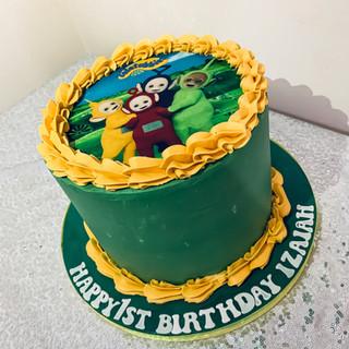 Teletubbie Buttercream Cake.
