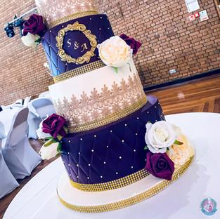 4 Tier Lace Cake.