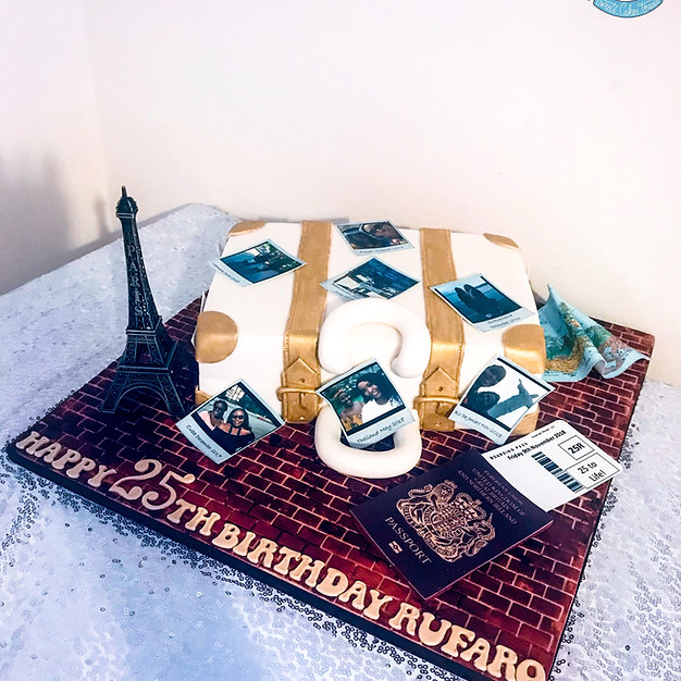 Suitcase Cake.