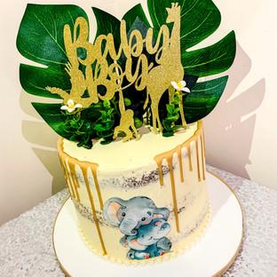 Baby Shower Drip cake.