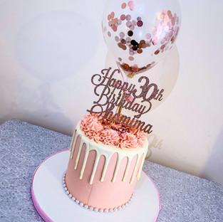Ballon Buttercream Cake