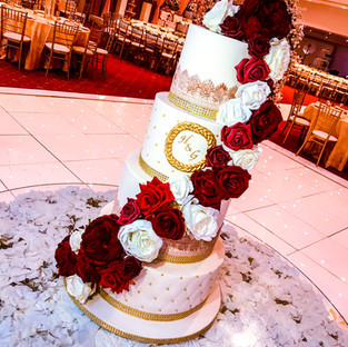 Floral Cascade Wedding Cake.