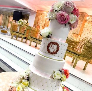 All White Wedding Cake.