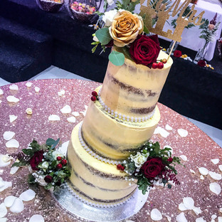 3 Tier Naked Cake.
