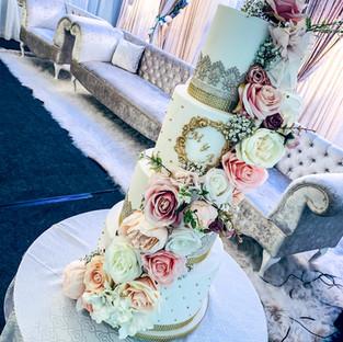 Pastel Pink Wedding Cake.