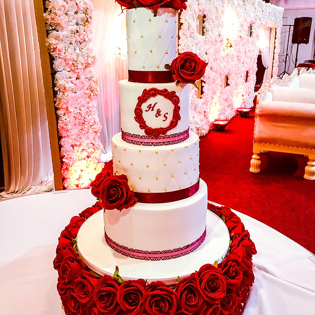 Red Wedding Cake.