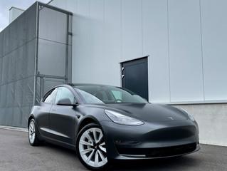2021 Tesla Model 3 in Satin Silky Black