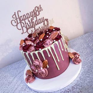 Rose Gold Drip Cake.