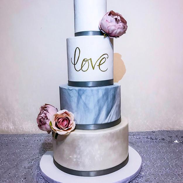 Marble Love Wedding Cake.