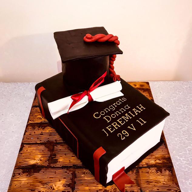 Graduation Book Cake.