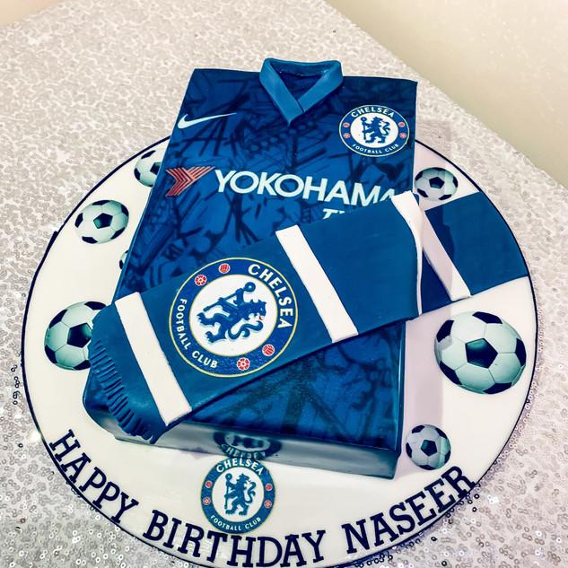 Chelsea Football Shirt Cake.