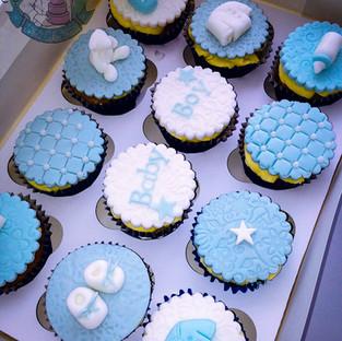 Baby Boy Cupcakes.