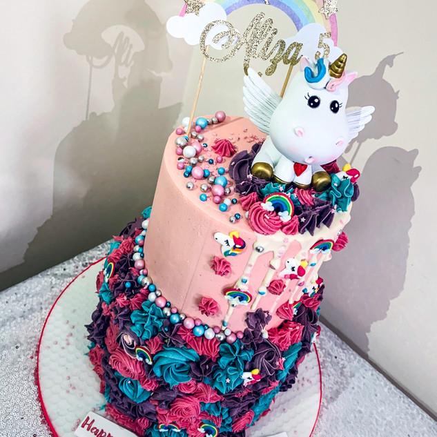 2 tier Unicorn Cake.