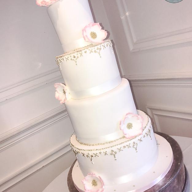 Sugar Flower Wedding Cake.