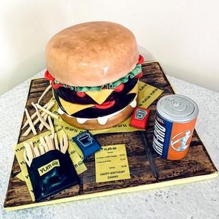 Yum Yum Burger Cake.