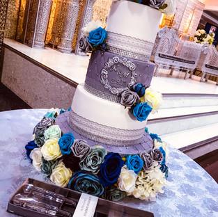 Grey Wedding Cake.