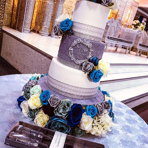 Grey Wedding Cake.
