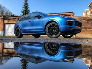 Porsche Cayenne - Carwrap Matte Metallic Blue