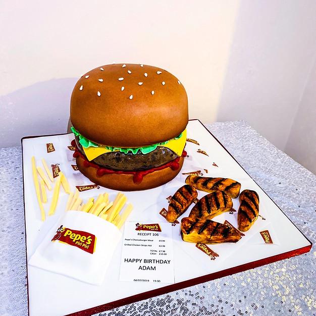 Burger & Fries Cake.