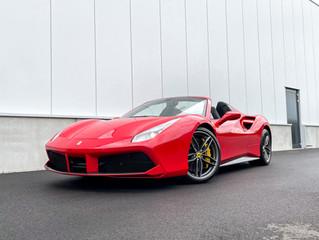 Ferrari 488 Spider wordt voorzien van een volledige XPEL lakbescherming