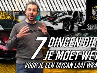 7 dingen die je moet weten VOOR je een Porsche Taycan laat wrappen!!