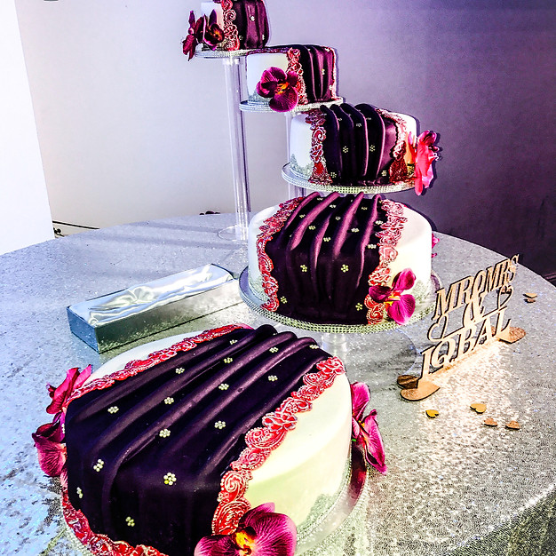 Saree Wedding Cake.