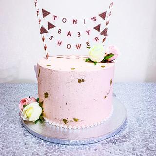 Pink Baby Shower Cake.