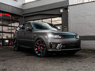 Range Rover Sport gewrapped in Deep Matte Black