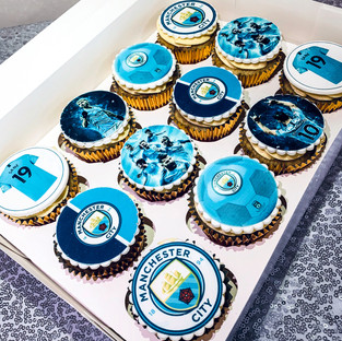 Manchester City FC Cupcakes.