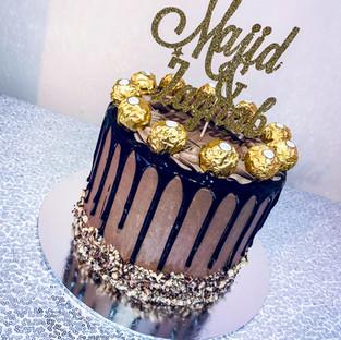 Ferrero Rocher Drip Cake.