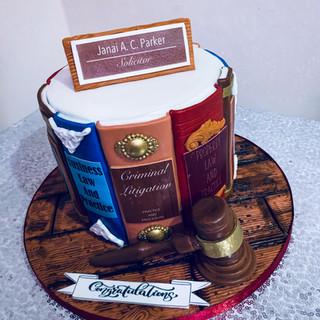 Laywer Graduation Cake.