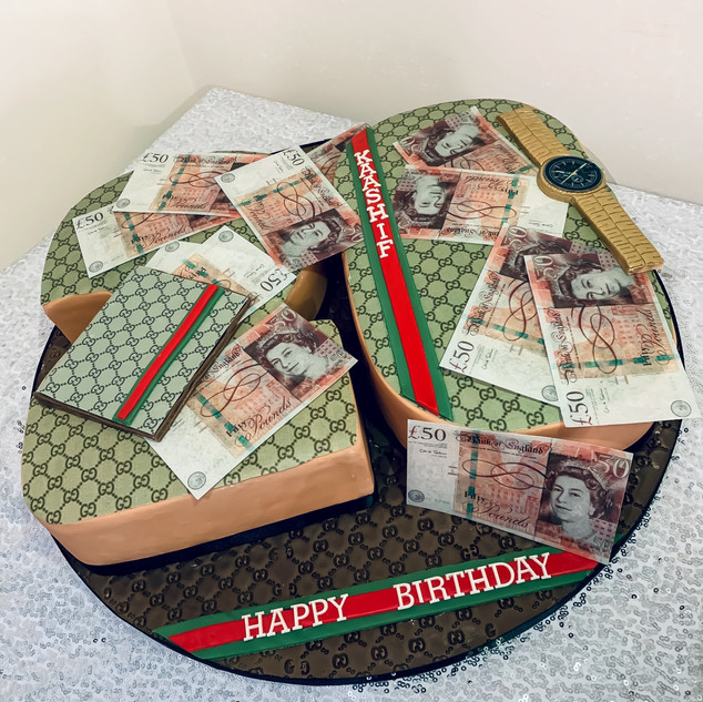 Gucci Number Cake.
