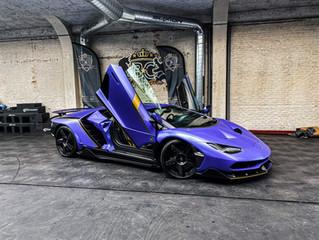 WRAPPING van een 2.400.000 euro Lamborghini CENTENARIO
