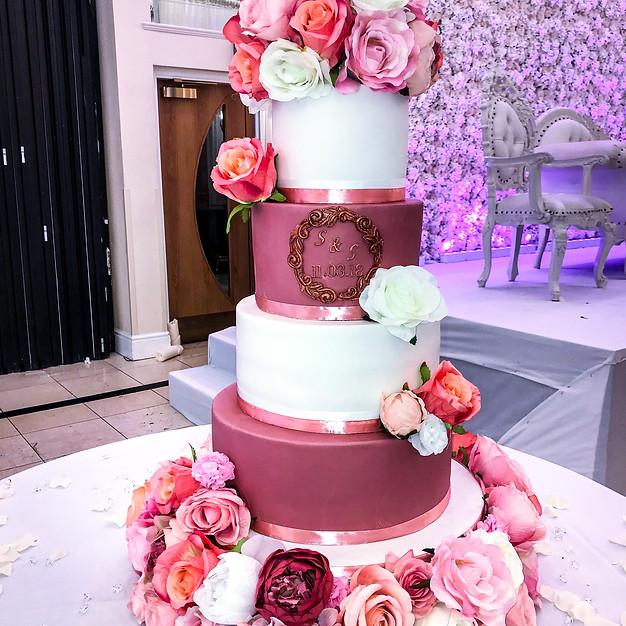 Dusky Pink Wedding Cake