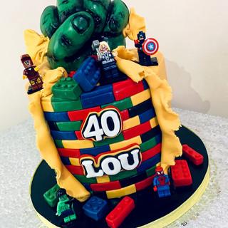 Lego Marvel Cake.