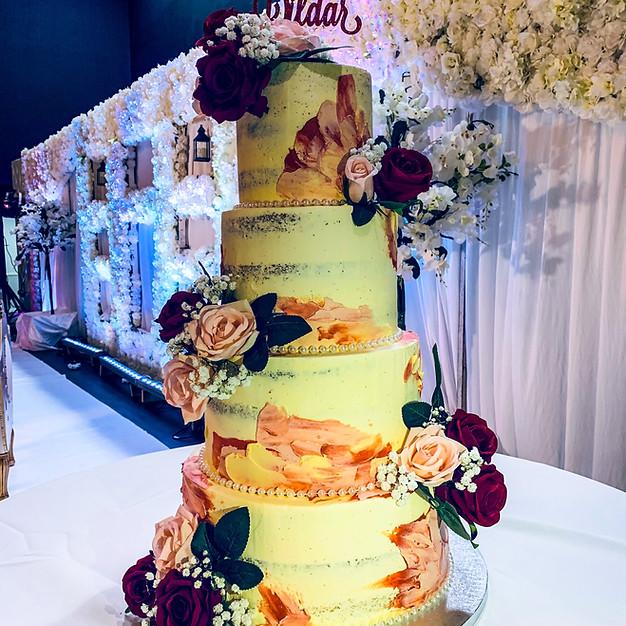 Rustic Naked Wedding Cake.