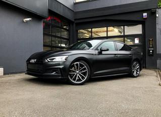 Audi S5 Car wrap Satin Silky Black